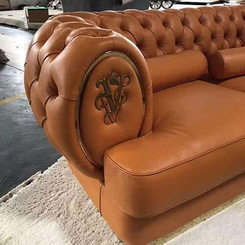 China Italy Visionnaire Oberon Leather Sofa Replica